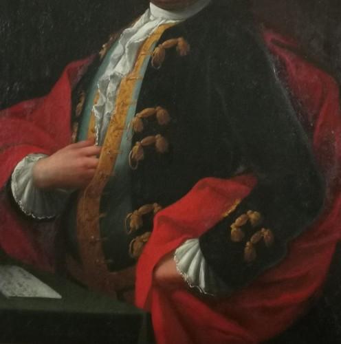 Louis XV - Don Franco Billo-tta - Portrait of a noble magistrate Pavesan Lombardy 18th