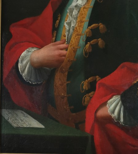 Antiquités - Don Franco Billo-tta - Portrait of a noble magistrate Pavesan Lombardy 18th