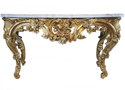 Important giltwood console table Aix en Provence circa 1760