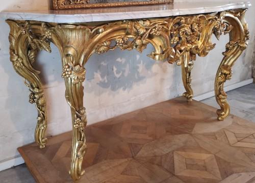 Furniture  - Important giltwood console table Aix en Provence circa 1760