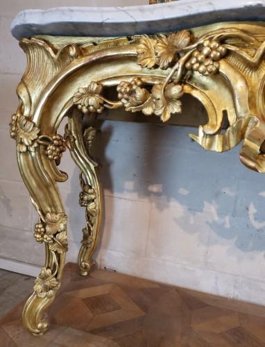 Antiquités - Important giltwood console table Aix en Provence circa 1760