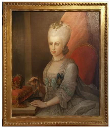 Presumed portrait Her Serene Highness Marie Victoire d'Arenberg (1714-1793).