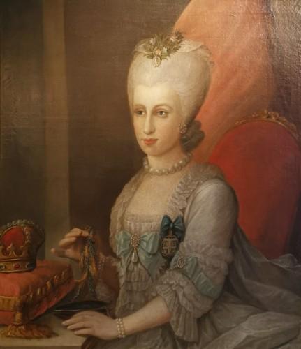 Presumed portrait Her Serene Highness Marie Victoire d'Arenberg (1714-1793).  - Paintings & Drawings Style