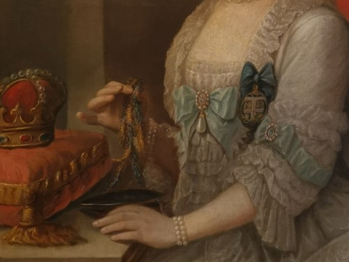 Paintings & Drawings  - Presumed portrait Her Serene Highness Marie Victoire d'Arenberg (1714-1793).