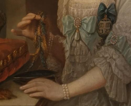 Presumed portrait Her Serene Highness Marie Victoire d'Arenberg (1714-1793).  -