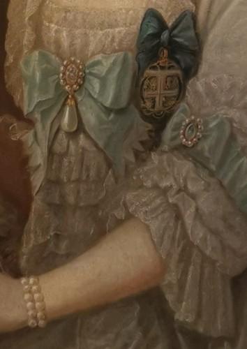18th century - Presumed portrait Her Serene Highness Marie Victoire d'Arenberg (1714-1793).