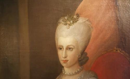 Antiquités - Presumed portrait Her Serene Highness Marie Victoire d'Arenberg (1714-1793).