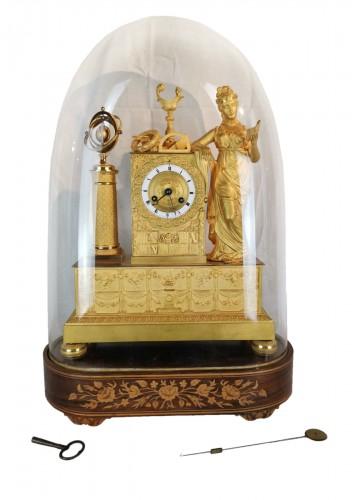 A Empire ormolu Clock - Scientific Objects. Early 19th Circa 1805