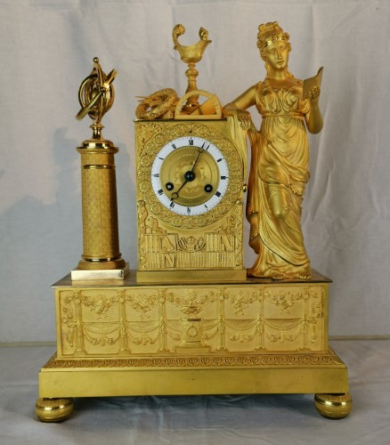 A Empire ormolu Clock - Scientific Objects. Early 19th Circa 1805  - Horology Style Empire