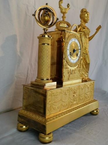 A Empire ormolu Clock - Scientific Objects. Early 19th Circa 1805  -