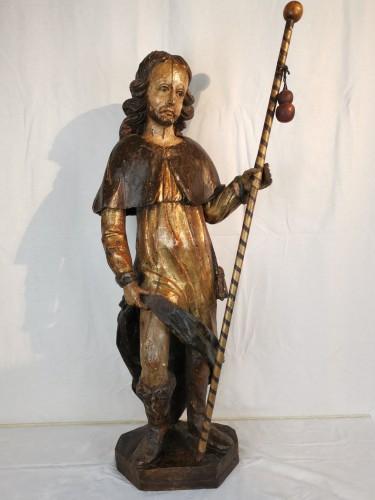 Saint Roch 17th century - Sculpture Style Louis XIV