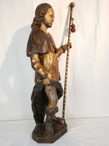 Sculpture  - Saint Roch 17th century