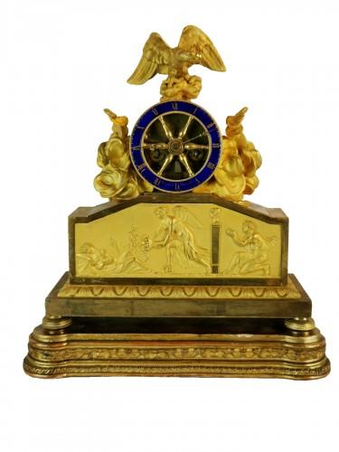 A Empire ormolu skeleton clock-  Early 19th Circa 1805
