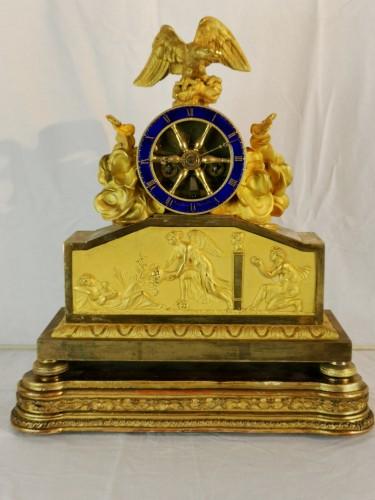 A Empire ormolu skeleton clock-  Early 19th Circa 1805 - Horology Style Empire