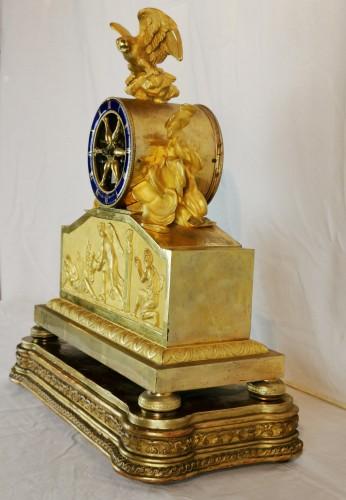 Horology  - A Empire ormolu skeleton clock-  Early 19th Circa 1805