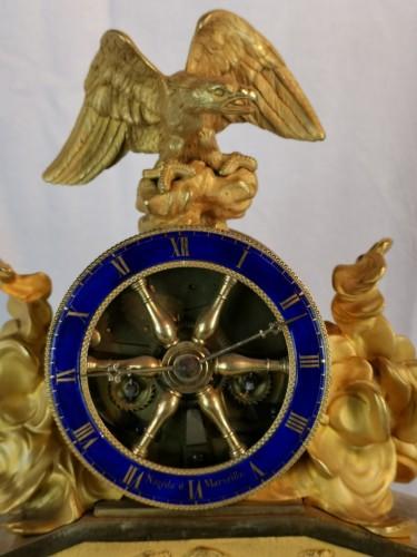 Empire - A Empire ormolu skeleton clock-  Early 19th Circa 1805