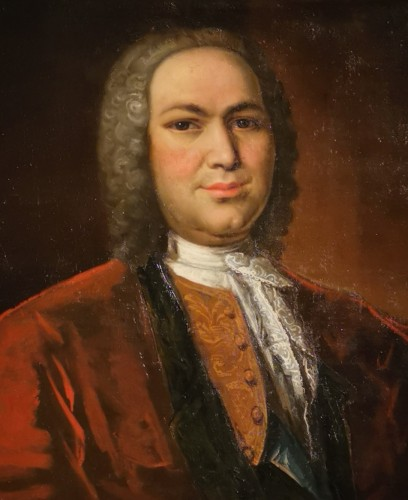 Paintings & Drawings  - Portrait of Petrus Dupin, magistrate and consular quaestor by de Angeli En 1739.