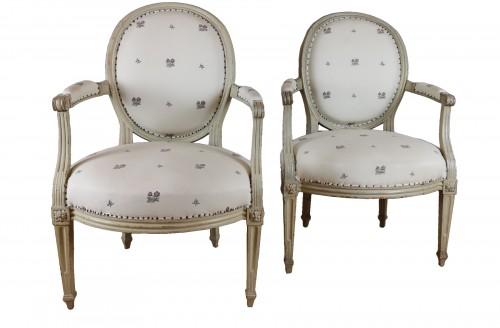 A Louis XVI armchairs by Louis Nicolas Pillot