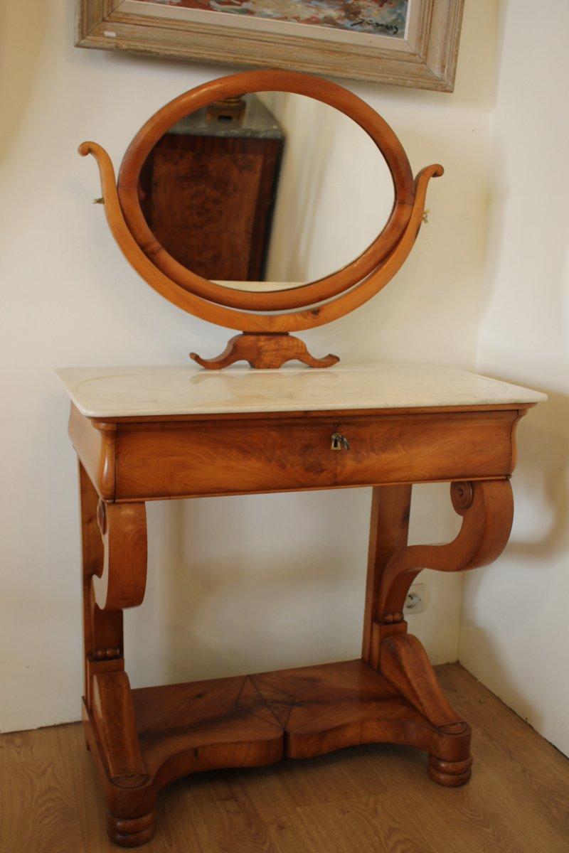coiffeuse louis philippe en merisier xixe si cle. Black Bedroom Furniture Sets. Home Design Ideas