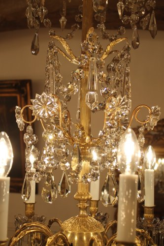 lustre en bronze et cristal napol on iii xixe si cle. Black Bedroom Furniture Sets. Home Design Ideas