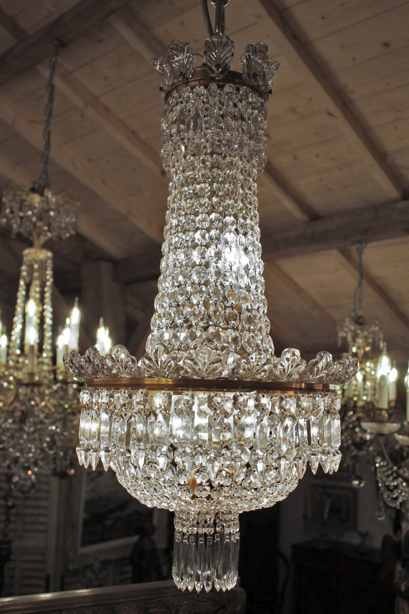 lustre montgolfi re en cristal de baccarat xxe si cle. Black Bedroom Furniture Sets. Home Design Ideas