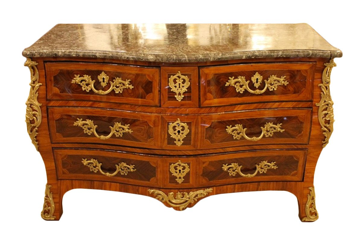 commode louis xv estampill e jean lapie xviiie si cle. Black Bedroom Furniture Sets. Home Design Ideas