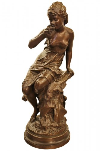 La source - bronze de Mathurin MOREAU (1822-1912), fonte Colin