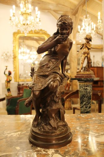 La source - bronze de Mathurin MOREAU (1822-1912), fonte Colin - Sculpture Style
