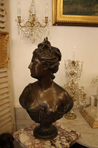 Diane Huntress after Houdon, late 19th century - Sculpture Style