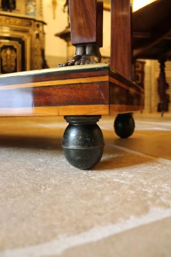Empire - Caryatids console in mahogany and mahogany veneer, Empire period