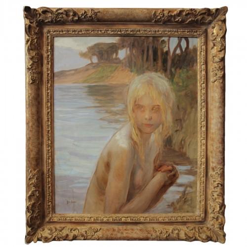 CHABAS Paul Emile (1869-1937)  – La Baigneuse