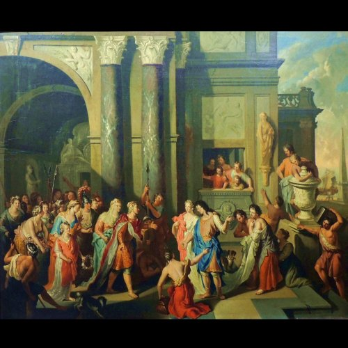Gerard Hoet - The court of Troy - XVIIth century