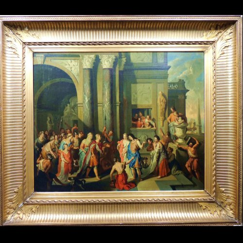 Gerard Hoet - The court of Troy - XVIIth century - Paintings & Drawings Style