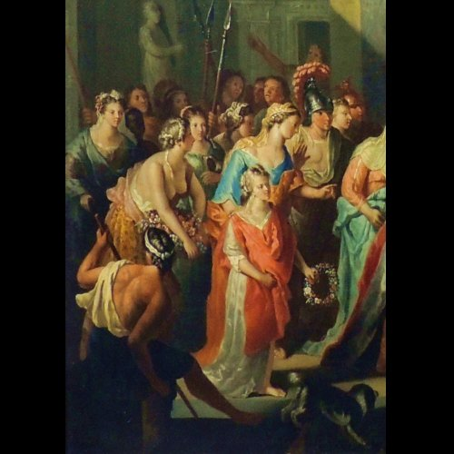 17th century - Gerard Hoet - The court of Troy - XVIIth century