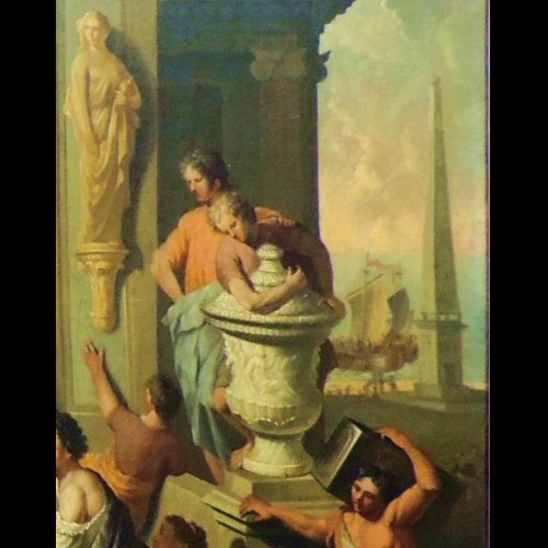 Gerard Hoet - The court of Troy - XVIIth century -