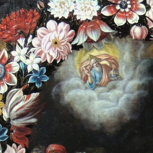 "Paintings & Drawings  - ""the birth of st. john the baptist"" - flemish school seventeenth century"