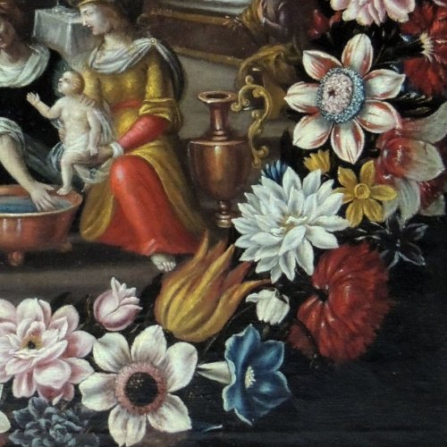 "17th century - ""the birth of st. john the baptist"" - flemish school seventeenth century"