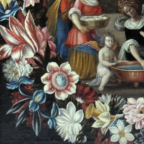 """the birth of st. john the baptist"" - flemish school seventeenth century - Louis XIV"