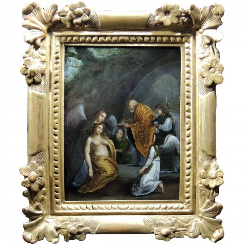 The Last Communion of Mary Magdalene - French School of the seventeenth century