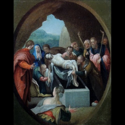 The Entombment of Christ - seventeenth century Italian School - Paintings & Drawings Style