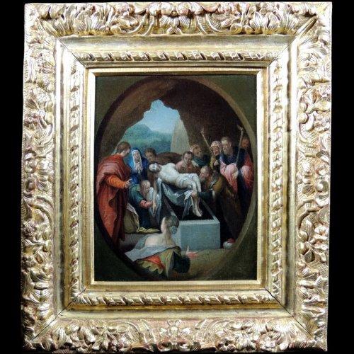17th century - The Entombment of Christ - seventeenth century Italian School