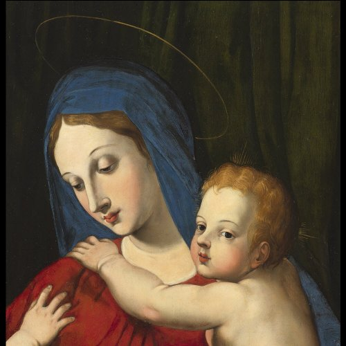 Paintings & Drawings  - Italian Renaissance - Virgin and Child and St. John the Baptist