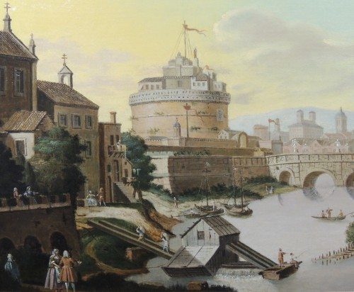 Paintings & Drawings  - Rome and Castel Sant'Angelo - Italian School of the 18th century