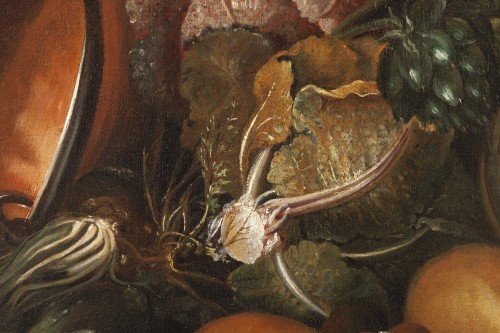 Still life with guinea pigs - Workshop of Giovanni Paolo Castelli lo Spadin -