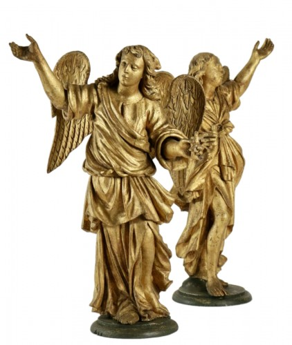 Pair of ceroferial angels - Italy 17th century