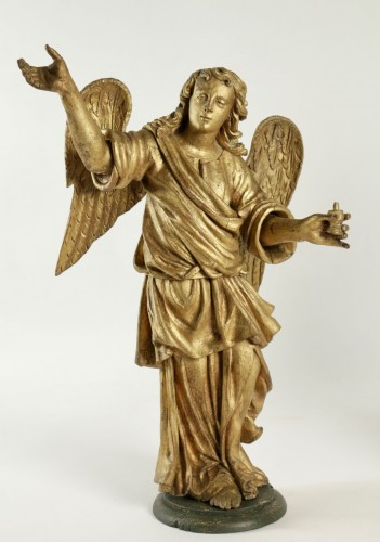 Pair of ceroferial angels - Italy 17th century - Sculpture Style