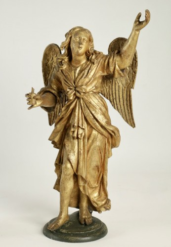 Sculpture  - Pair of ceroferial angels - Italy 17th century