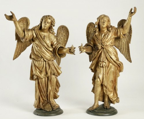 Pair of ceroferial angels - Italy 17th century -