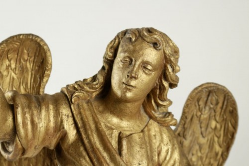 17th century - Pair of ceroferial angels - Italy 17th century