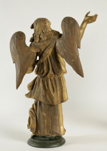 Antiquités - Pair of ceroferial angels - Italy 17th century